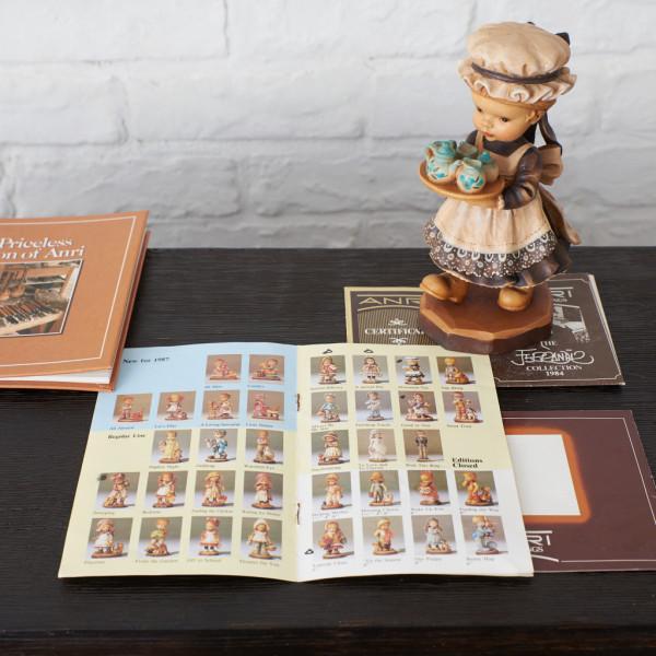 ANRI 木彫り人形 12体セット ( 内1点 オルゴール )