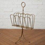 英国アンティーク 真鍮製 マガジンラック