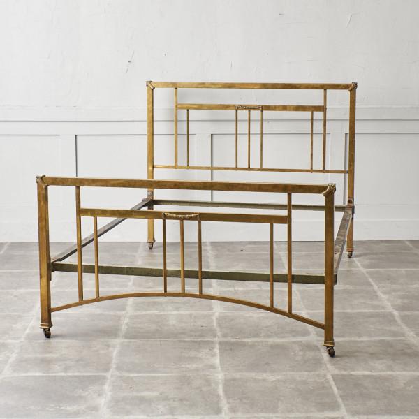 イギリスアンティーク 真鍮製 セミダブル ベッドフレーム