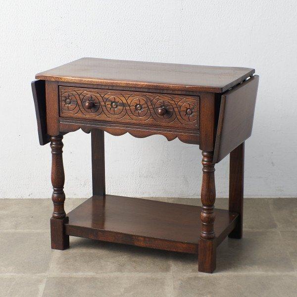 英国アンティーク ドロップリーフ サイドテーブル
