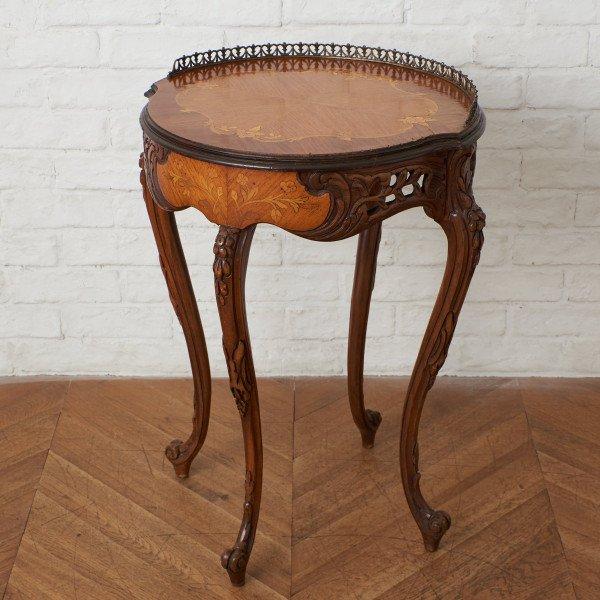 イタリア製 木象嵌サイドテーブル