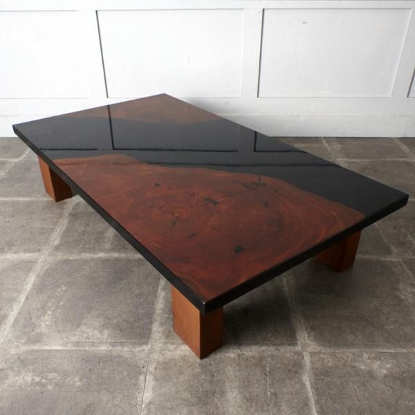 現代和具 松岡漆工 欅 年輪リビングテーブル