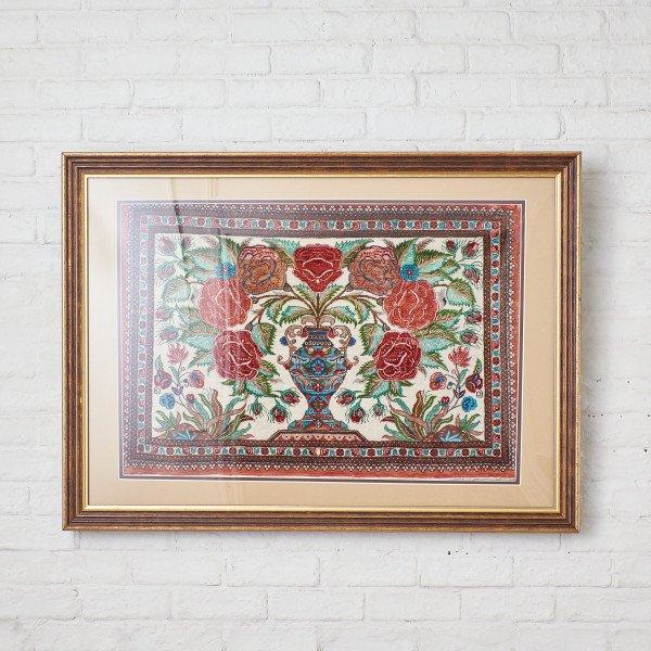ペルシャ絨毯 額装
