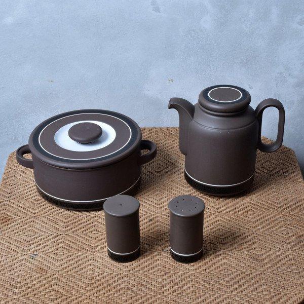 ホーンジー Hornsea Pottery Contrast ヴィンテージ 4点セット