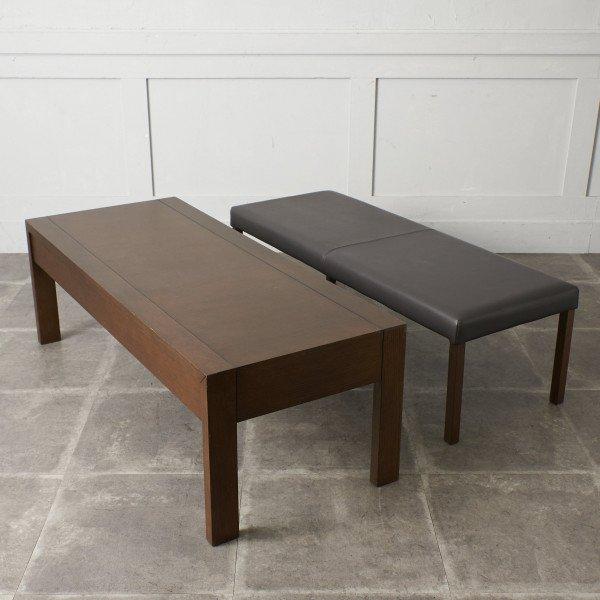 フランスベッド FranceBeD 本革ベンチ付き リビングテーブル PK-405