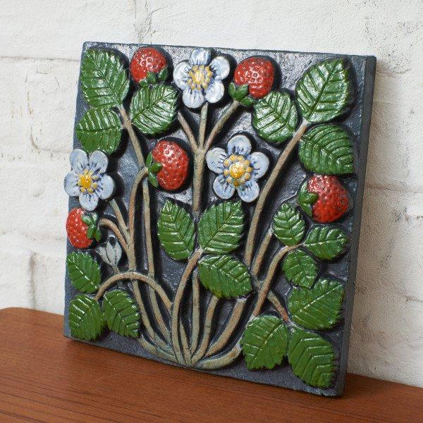 POMONAシリーズ Jordgubbar (イチゴ) 陶板