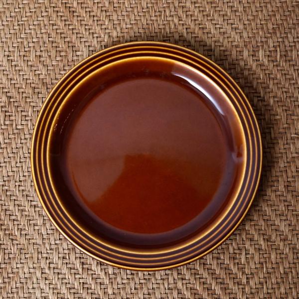 ホーンジー Hornsea Pottery HEIRLOOM / Autumn brown プレート 17.5cm