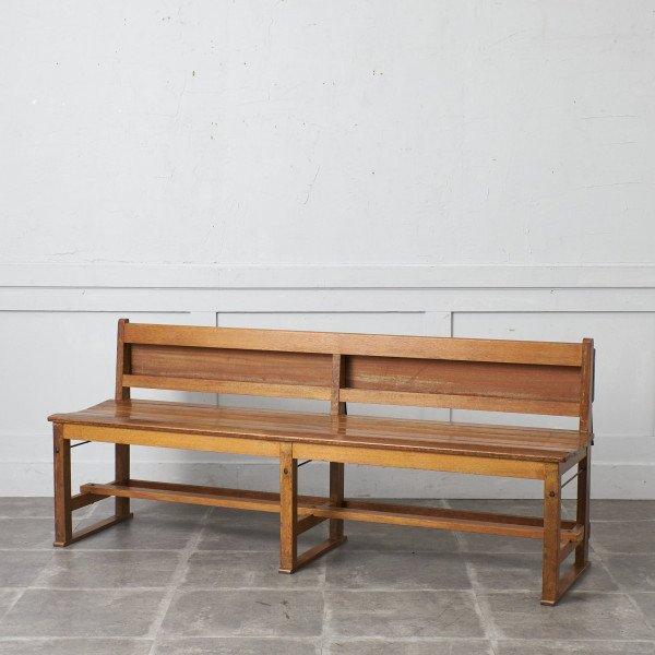 楢無垢材 古い教会のベンチ