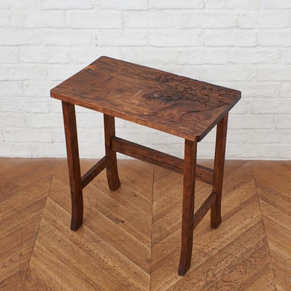 伝統工芸 軽井沢彫 松彫刻 サイドテーブル