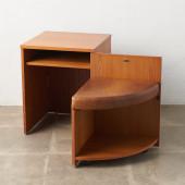 収納式 テレフォンベンチ/テーブル