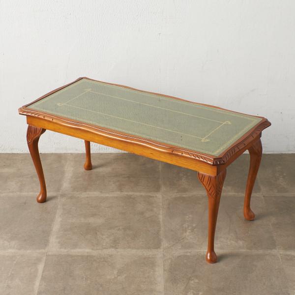 英国クラシック ガラストップ センターテーブル