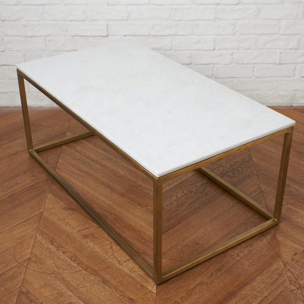 真鍮x大理石 センターテーブル