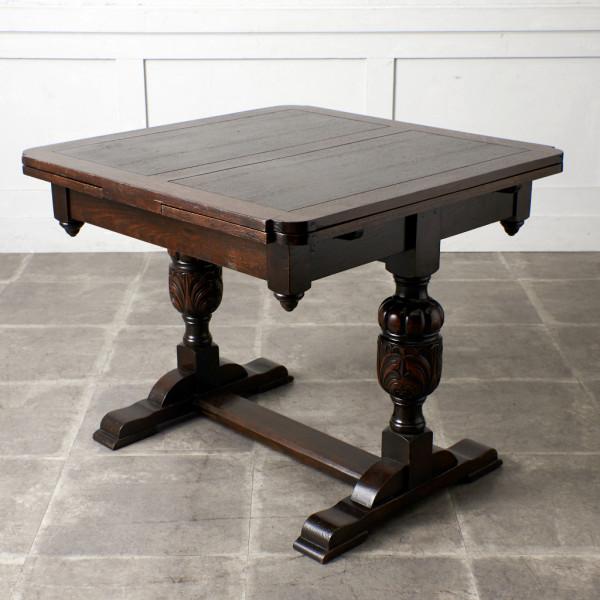 英国アンティーク ドローリーフ ダイニングテーブル
