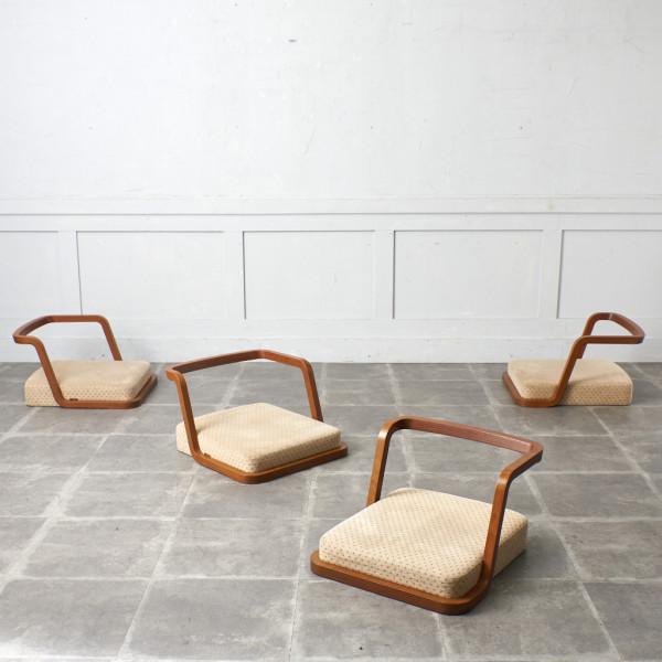 天童木工 TENDO T-3187WB 座椅子 4脚セット