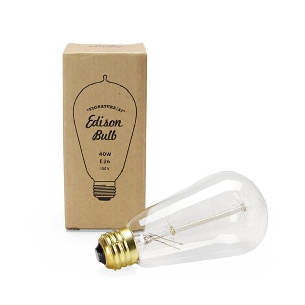 """Edison Bulb """"Signature"""" S 40W E26 / 4個セット"""