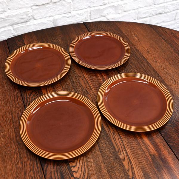 ホーンジー Hornsea Pottery HEIRLOOM / Autumn brown プレート 26.5cm 4枚セット