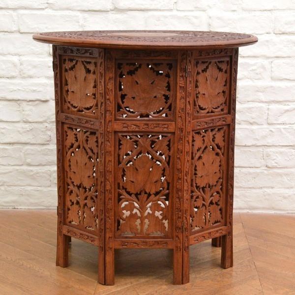 シーシャムウッド アジアン コロニアル 折り畳み サイドテーブル
