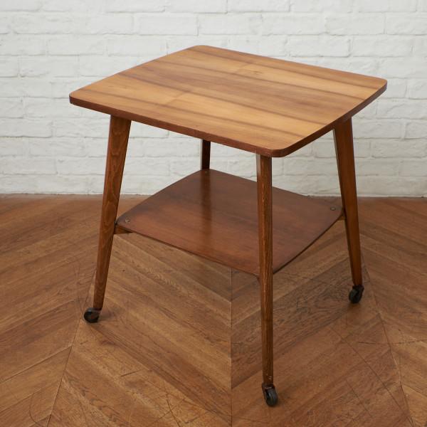 英国ヴィンテージ キャスター付き サイドテーブル