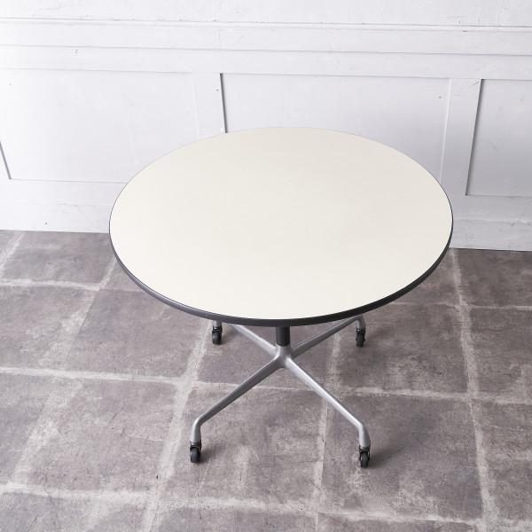 イームズテーブル アルミナムベース ラウンド ダイニングテーブル