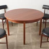 デンマーク製 エクステンション ラウンドダイニングテーブル