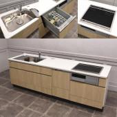 タカラスタンダード Takara standard モデルルーム展示品 人工大理石天板システムキッチン&レンジフード