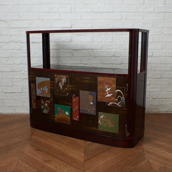 モリシゲ MORISHIGE 漆塗 金蒔茶棚