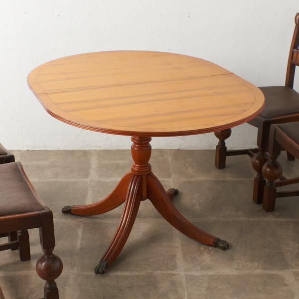英国製 リージェンシー様式 エクステンション ダイニングテーブル