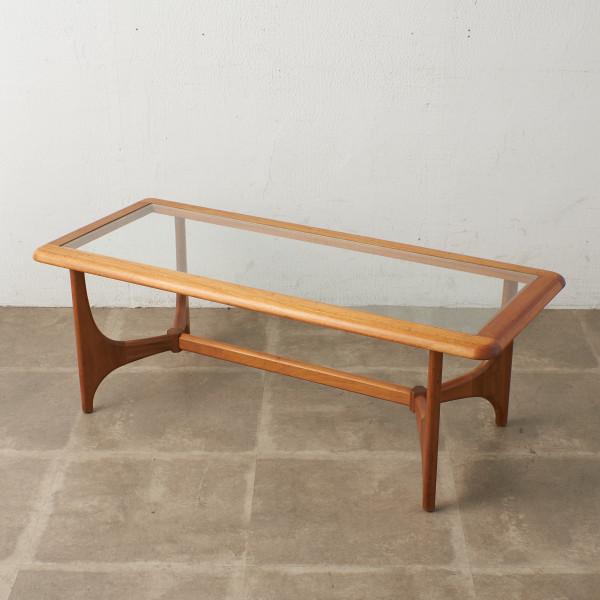 ガラストップ レクタングルコーヒーテーブル