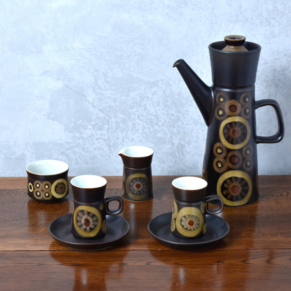 デンビー DENBY Arabesque  ヴィンテージ コーヒーセット 7点