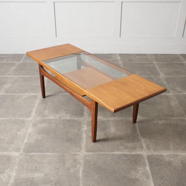 ジープラン G-PLAN ロングジョン ガラストップ コーヒーテーブル