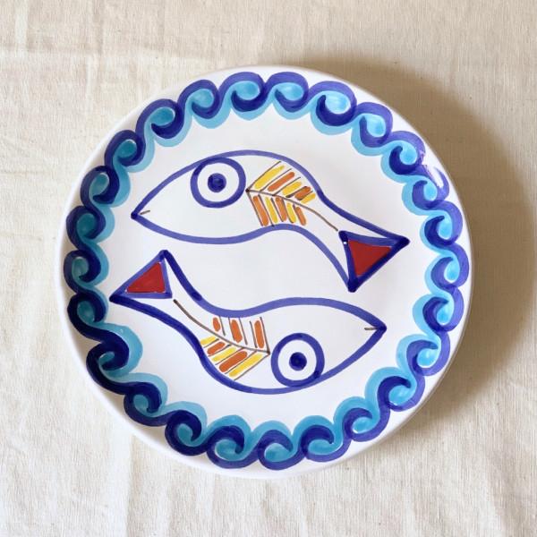 Susannna de Simone 絵皿 19cm 2匹のサカナ