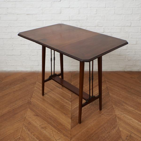 英国アンティーク 回転式拡張天板 オケージョナルテーブル