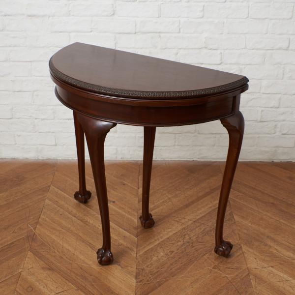 英国アンティーク マホガニー材 カードテーブル