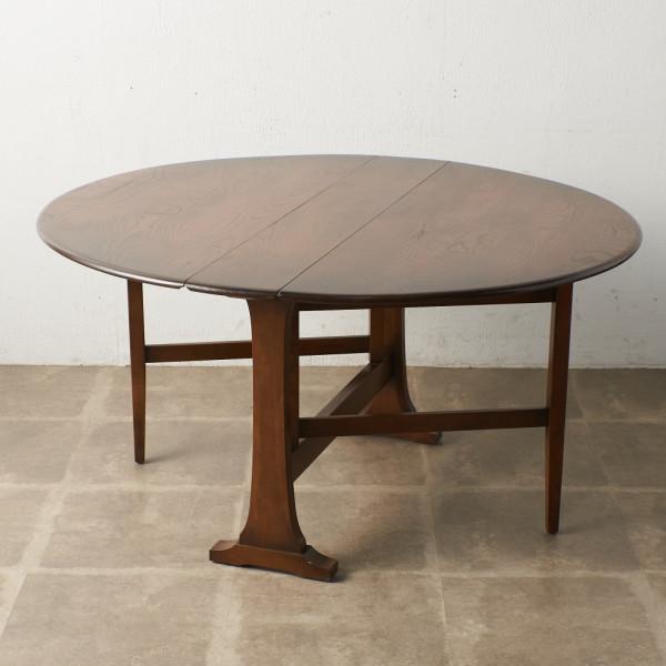 オールドコロニアル  オーバル型 ゲートレッグバタフライテーブル