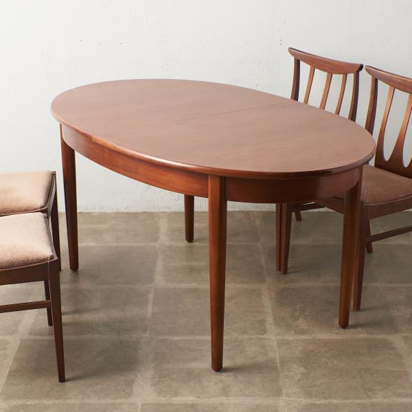 エクステンション オーバルダイニングテーブルテーブル