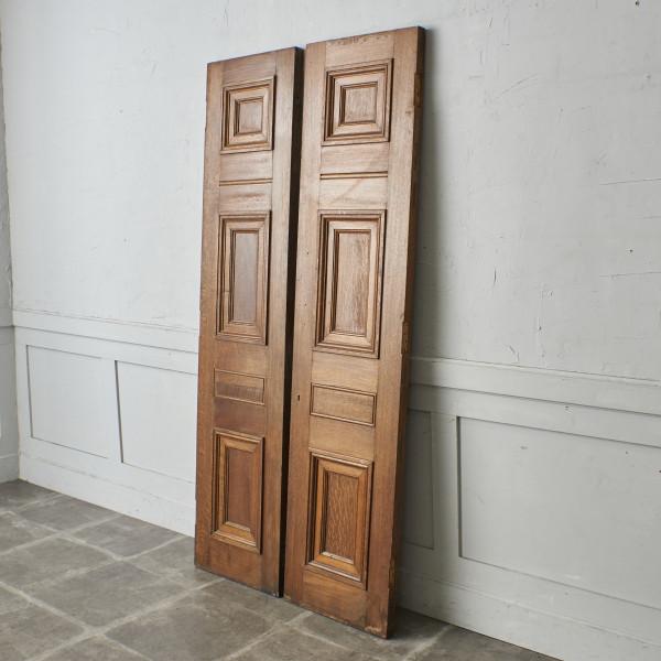 英国ヴィンテージ 両開き ウッドドア