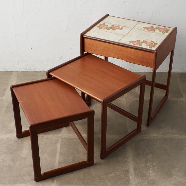ジープラン G-PLAN タイルトップ ドロワーネストテーブル (3566D)