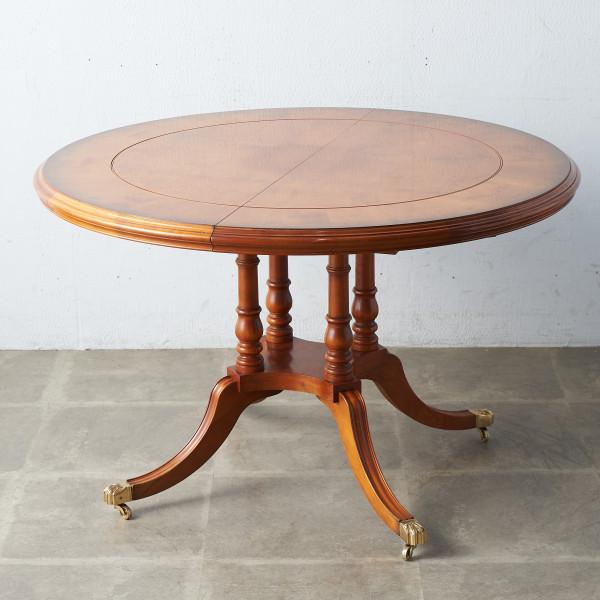 英国製 リージェンシー様式 エクステンション ラウンドダイニングテーブル